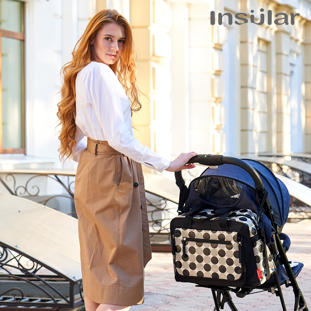 INSULAR diaper bags Large-capacity multi-functional fashion waterproof  Mummy Maternity Nappy Bag baby bag