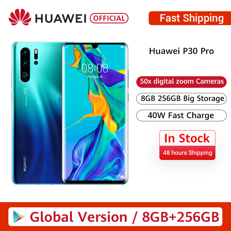 Globale version Huawei P30 Pro 8GB 256GB Kirin 980 Octa Core Smartphone Quad Kamera 6.47 ''Full Screen NFC image