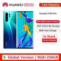 "Versión Global Huawei P30 Pro 8GB 256GB Kirin 980 Octa Core Smartphone Quad Cámara 6,47 ""pantalla completa NFC"