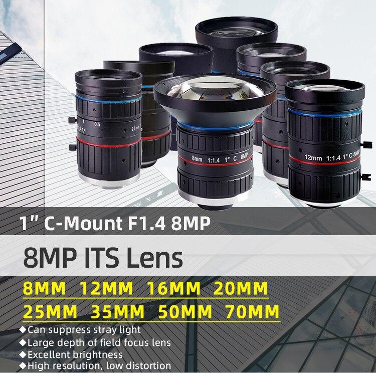 8 0 megapixel sua lente 8mm 12mm 16mm 20mm 25mm 35mm 50mm 70mm lente focal