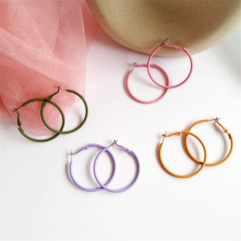 Gran oferta de pendientes de Aro a la moda de 35mm, 40mm, 60mm, pendientes grandes de círculo liso, pendientes de bucle para mujer, joyería de discoteca