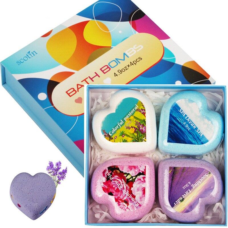 12/6/4pcs Rainbow Handmade Essential Oil Soap Sea Salt Soap Cleaner Moisturizing Soap Bath Bomb Bubble Skin Care Tool For Gift