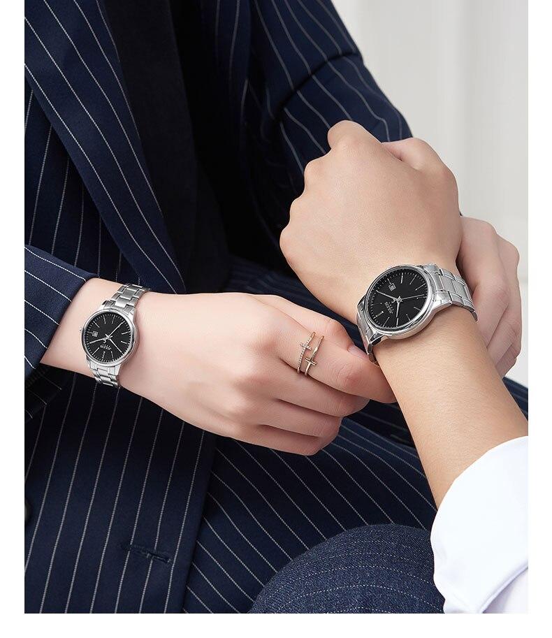 Julius moda casal relógio homem e mulher