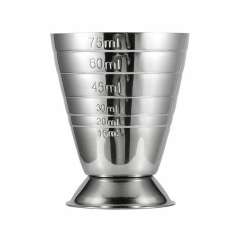 1PC 75ml  Measure Cup Jigger Single Cup Cocktail Wine Measure Cups For Bar Restaurant Home Tool