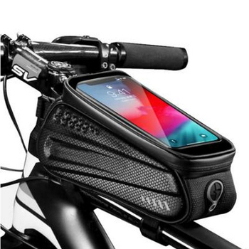 New 6.2 Hard Shell Bicycle Bag Reflective Rainproof Touch Screen Phone Case Bag MTB Bike Top Tube Bag Cycling Accessories front touch screen bike phone rainproof bag for bicycle handlebar cycling bag phone case bicycle bag mtb pannier bicycle