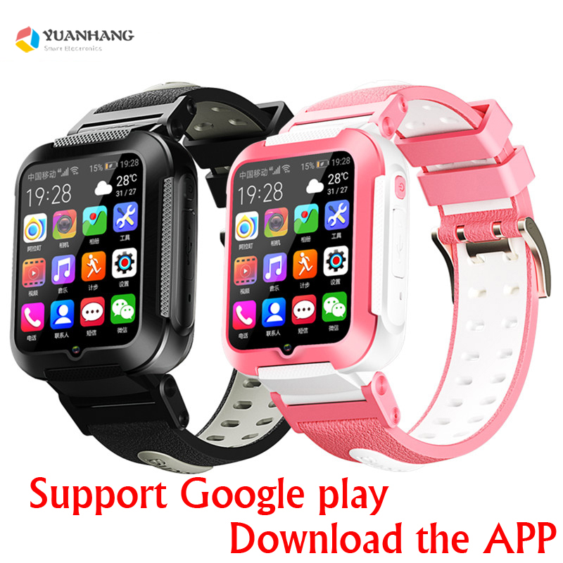 Smart <font><b>4G</b></font> Remote Camera GPS WI-FI Kid Student Google Play <font><b>Smartwatch</b></font> Video Call Monitor Tracker Location Bluetooth Phone Watch image