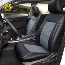 Fundas de asiento de cuero PU cubierta de asiento interior automotriz Universal de lujo para toyota Mazda Volkswagen Hyundai, Kia, Lada Nissan