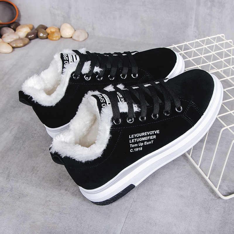 Kışlık botlar kadınlar sıcak kısa kürk peluş yarım çizmeler platformu bayanlar süet ayakkabı kadın seksi çizmeler siyah Zapatos De Mujer