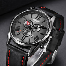 XINEW Watches Men Fashion Military Watches Men Sports Watches Leather Band Quartz Watch mannen horloge relogio masculino 2019