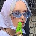 2020 маленькие солнцезащитные очки для женщин и мужчин, Модные Винтажные брендовые дизайнерские солнцезащитные очки в стиле хип-хоп с квадра...
