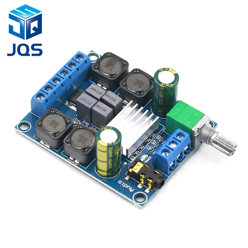 High Efficiency TPA3116 D2 Dual Channel 50Wx2 Amplifier Module DC 4.5-27V Digital Power 2 Channel Stereo Amplifier Board