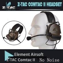 Z-tac tactical comtac II peltor Наушники Без функции шумоподавления Коммуникационный наушник новая версия Z151