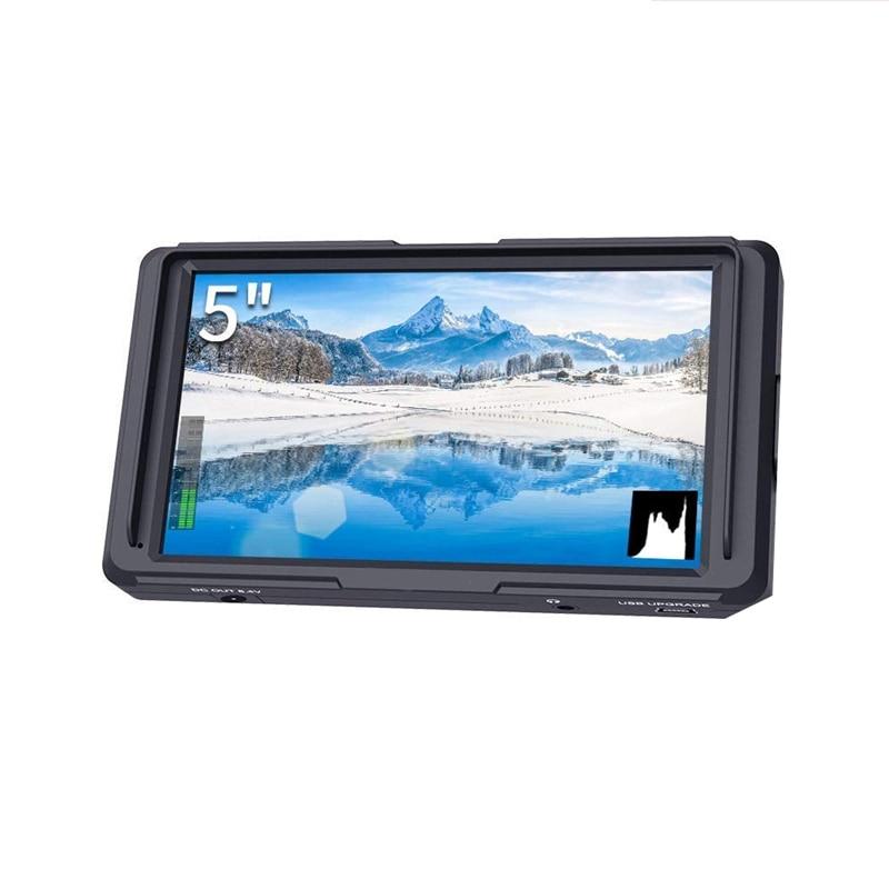 F5 5 pouces Dslr sur le moniteur de champ de la caméra petit Full Hd 1920x1080 Ips assistance de mise au point avec sortie d'entrée 4K Hdmi 8.4V Dc