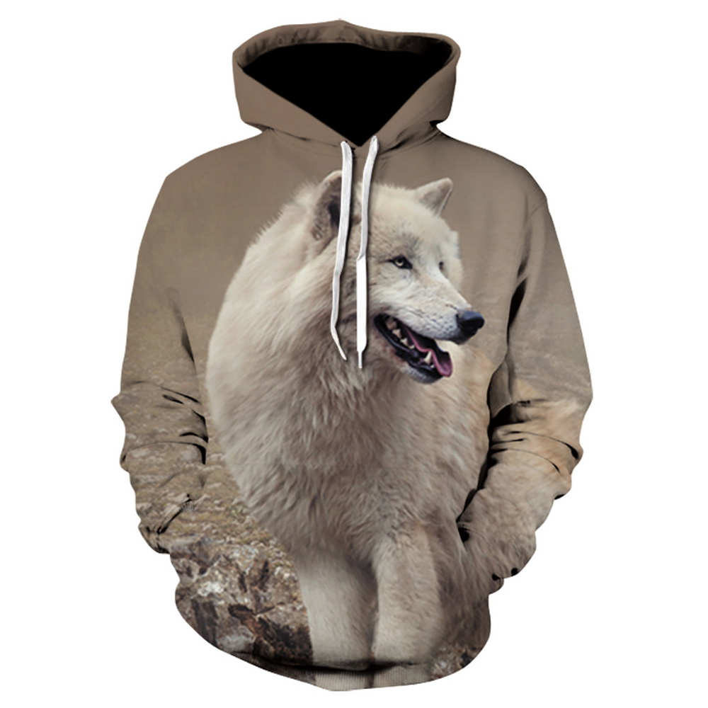 Sudaderas con capucha con estampado de lobo para hombre 3d sudaderas de marca