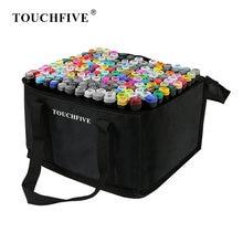 TouchFIVE – marqueurs de couleurs pour Manga, 30/40/60/80/168, à base d'alcool, croquis, stylo à double pointe, fournitures d'art