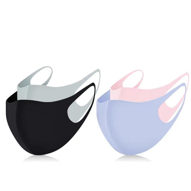 1pcs Reusable Washable Breathable Face Mask Outdoor Cycling Running Facemask Anti Dust Windproof Air Purifying Face Mask Filter
