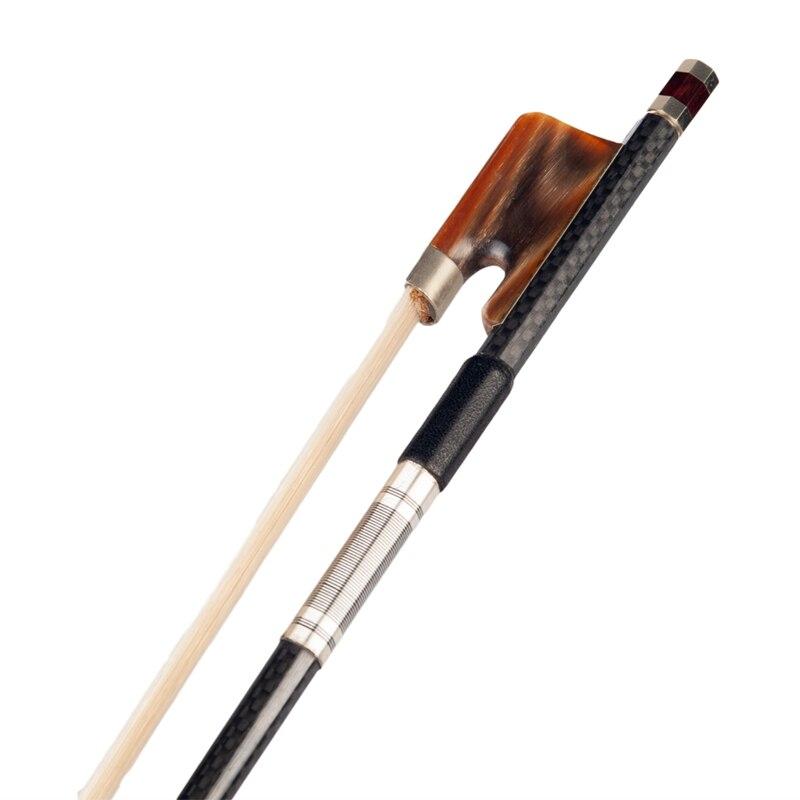 Углеродное волокно альт лук с быком лягушка высокого качества конский волос для 15 дюймов 16 дюймов альт С монгольской конский волос