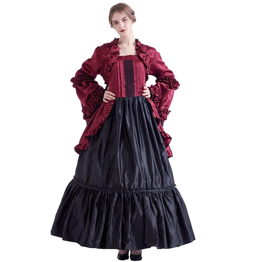Vintage gothique période victorienne robe médiévale Renaissance fête robes de bal vêtements de théâtre pour les femmes