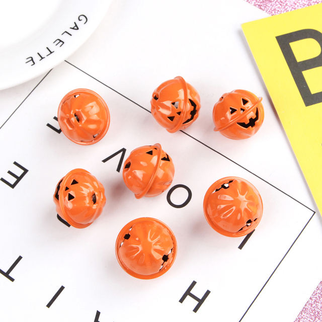 Mini Kürbis Glocken Laterne Kopf Jingle Perlen DIY Halloween Hause Dekorationen Ornamente