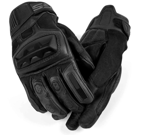 Free Shipping New Arrival Motorcycle GS Gloves For BMW GS650 GS1200 F650GS F Motorrad Black Leather Gloves All Sizes S-XXL image