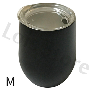 Image 5 - Wholesale 50pcs/lot 12oz Wine Tumbler Stainless Steel Wine Glass Egg Cup 2 layers Vacuum Insulated Beer Mug Wedding Party Gifts