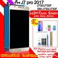 SM J730F/G/GM/FN/DS LCD Display für Samsung Galaxy J7 Pro 2017 J730 J730F Touch screen Digitizer Montage mit Home Button-in Handy-LCDs aus Handys & Telekommunikation bei