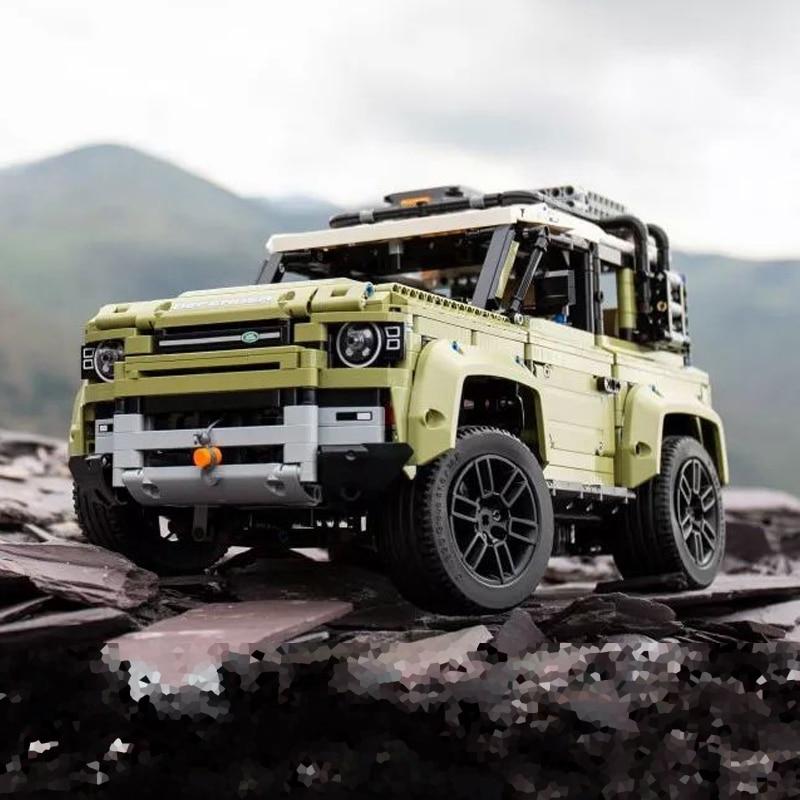 Lepinblocks 93018 Lepining Technic Compatible 42110 Land Car Rover Defender  Assembly Building Blocks Bricks Christmas Toys