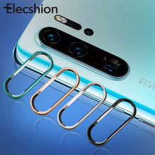 For Huawei P30 Tempered Camera Protector Glass Pro Metal Lens Ring Full Cover Protection
