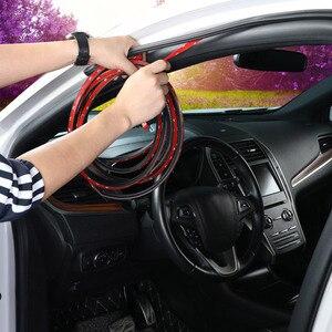 Image 5 - Joints détanchéité en caoutchouc pour portières de voiture, type L, Double couche, adhésifs, isolation phonique, bande résistante aux intempéries, accessoires dintérieur automobile