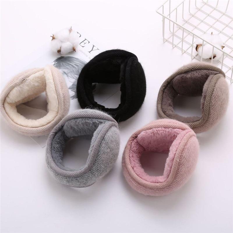 Men Women Winter Solid Color Plush Earmuffs Adjustable Ear Warmer Soft Warm Ear Muffs Fashion Windproof Ear Cover Unisex Hot