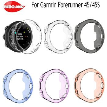 Sport Silicone Wrist Band Case for Garmin Forerunner 45/45S Exquisite Protector Cover for Forerunner 45/45S Smart Sport Watch