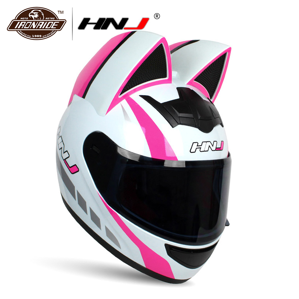 HNJ Men Women Motorcycle Helmet Full Face Casco Moto Motocross Helmet Cascos Para Moto Motorbike Riding Helmet 6 Colour