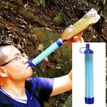 야외 정수기 캠핑 하이킹 긴급 생활 생존 휴대용 PurifierTravel 야생 음료 한외 여과 물 필터