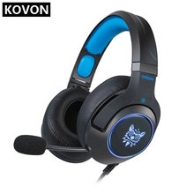 K9 Wired Gaming Headset Surround Sound Headphones with Retractable Mic Works for PS4 RGB LED Lightweight Soft Earmuffs sades locust plus gaming headset virtual 7 1 surround sound headphones rgb usb wired headband earphones