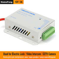 HomeFong DC 12V3A Power Supply Control for Electric Lock Video Door Phone Home Intercom Access Control System Support Delay lock