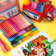 فابر كاستل الإملاء كتلة المائية القلم فرشاة لينة 30/60/80 ألوان الاطفال فرشاة ألوان مائية الكتابة على الجدران رسم لغز القرطاسية