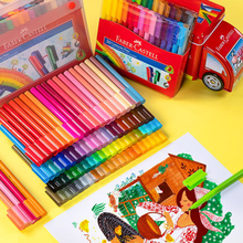 Faber Castell Spelling Block Watercolor Pen Soft Brush 30/60/80 Colors Kids Watercolor Brush Graffiti Drawing Puzzle Stationery
