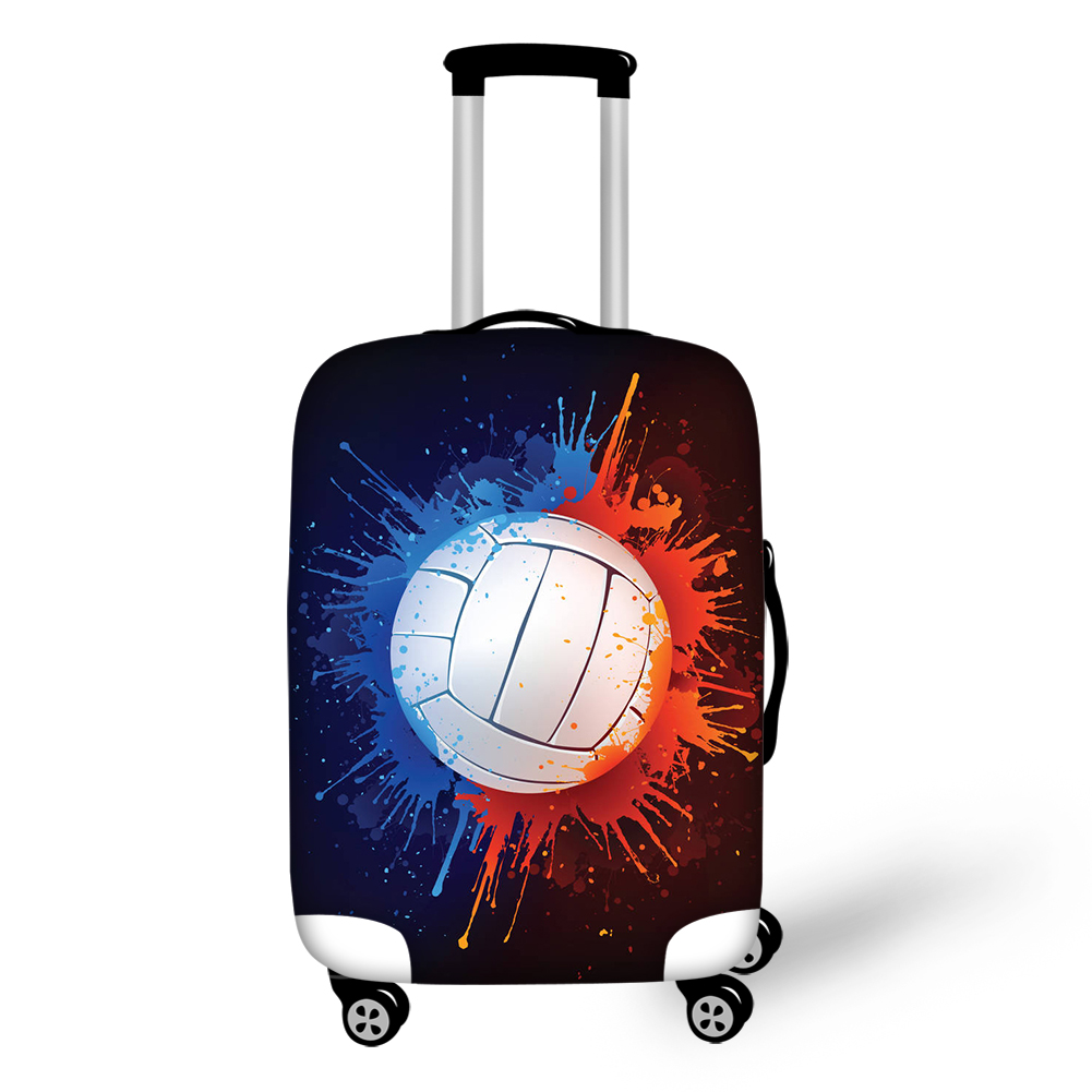 Thikin Classic Ball Print Travel Luggage Cover For Girls Cartoon School Trunk Suitcase Protective Case Bag Protector Jacket