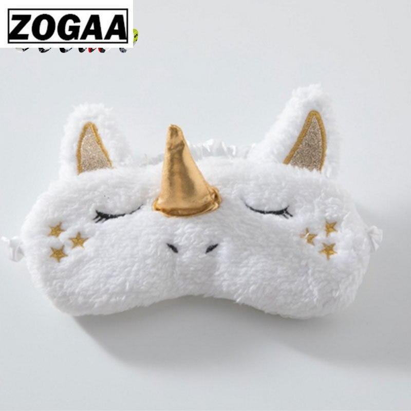 Unicorn Eye Mask Deer Plush Sleeping Eye Mask Furry Blindfold Gold Silver Nose Sleep Eye Mask Stuffed & Plush Animals