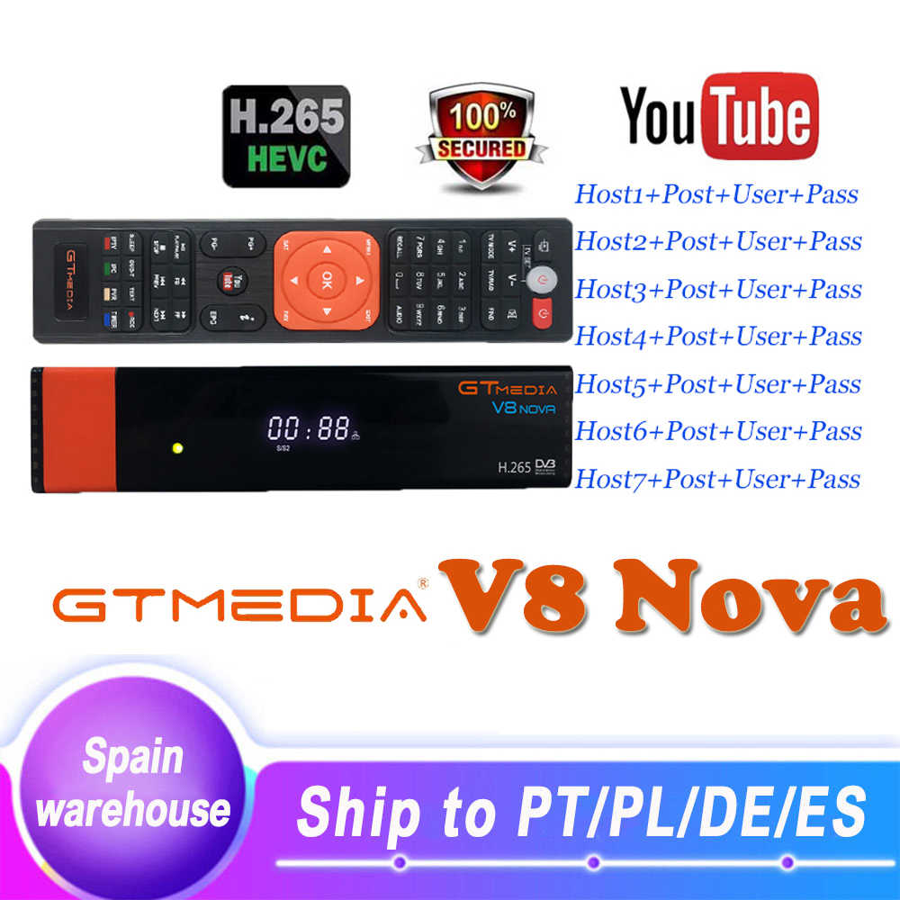 Gtmedia V8 Nova Digitale DVB-S2 Satellietontvanger H.265 Ingebouwde Wifi Full Hd Freesat Spanje Tv Decoder Pk Gt media V8 V9 Super