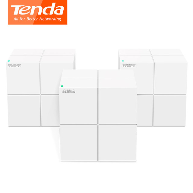 Tenda Nova MW6 Dual Band AC1200Mbps WiFi Router Whole Home Mesh Gigabit WiFi System with 2.4G/5.0GHz WI FI Repeater, APP Manage