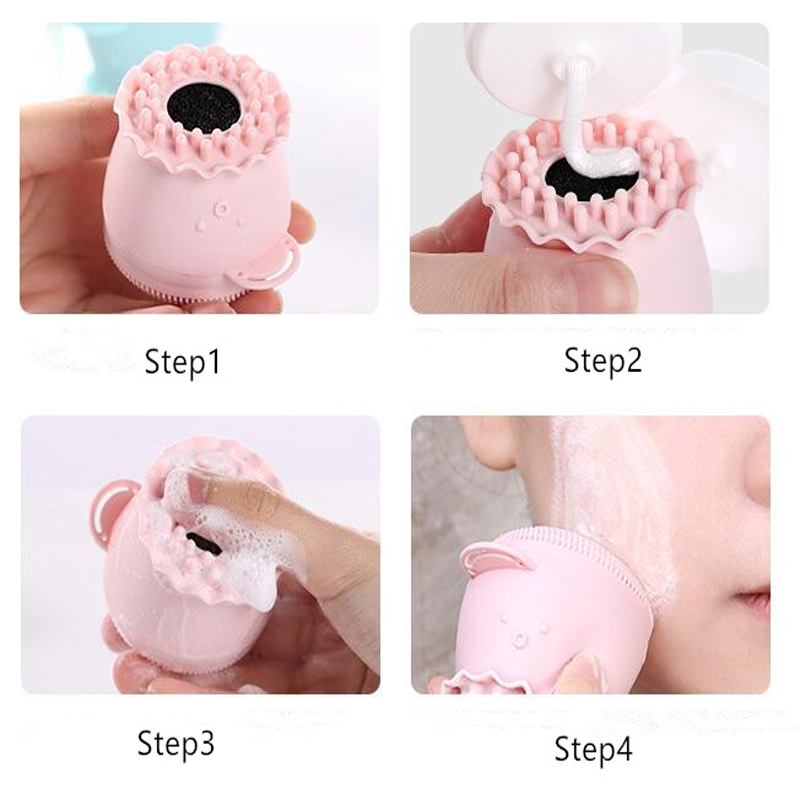 Silicone Facial Cleansing Brush Face Cleanser Wash Pore Cleaner Exfoliator Face Scrub Washing Brush Skin Care Octopus Shape Hot 5