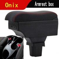 Para Chevrolet Onix Prisma caixa apoio de braço central caixa de conteúdo Loja com produtos de decoração Com USB Activ cobalto Onix|Braços| |  -