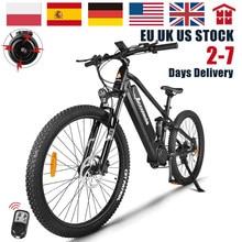 27,5 pulgadas de la bicicleta eléctrica de suspensión 48V 750W montaña E bicicleta Mid Motor Bafang MTB poderoso para Ebike 17.5Ah de la UE NO nos impuestos