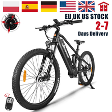 EU NO TAX 27.5 Inch Full Suspension Electric Bike 48V 750W Mountain E Bicycle Bafang BBS02B Mid Motor Powerful Mens eBike 17.5Ah