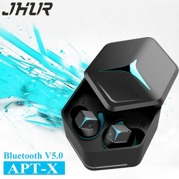JHUR V5.0 Bluetooth Earbuds Aptx TWS Wireless Bluetooth Earphones Stereo Sport Touch Control  In-Ea Earphone with mic