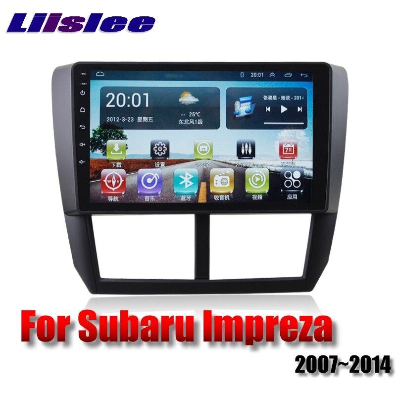 Для Subaru Impreza Outback Sport B3 GE GV GH GR RX WRX 2007 ~ 2014 LiisLee Автомобильный мультимедийный GPS аудио Радио Стерео навигация NAVI