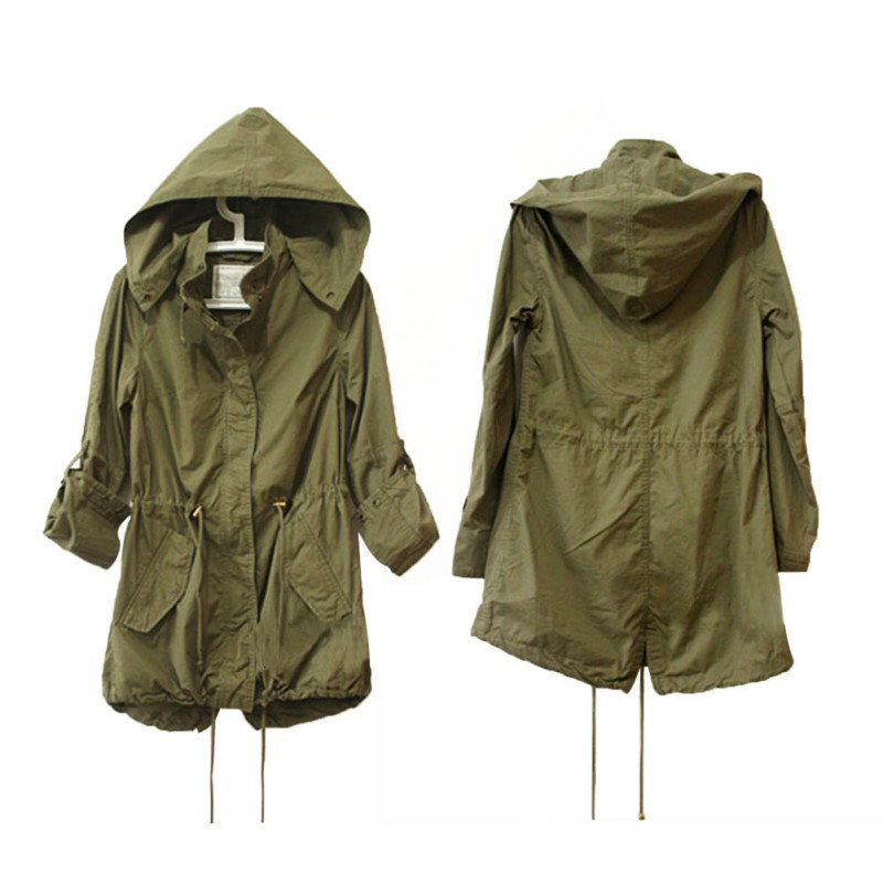 Military Green Womens Parka