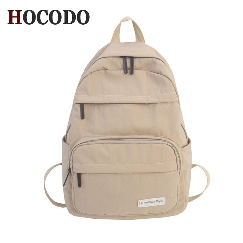 HOCODO 2019 New Women Backpack Fashion Nylon Shoulder Bag School Bagpack For Teenage Girls Travel Bag Female Leisure Backpacks