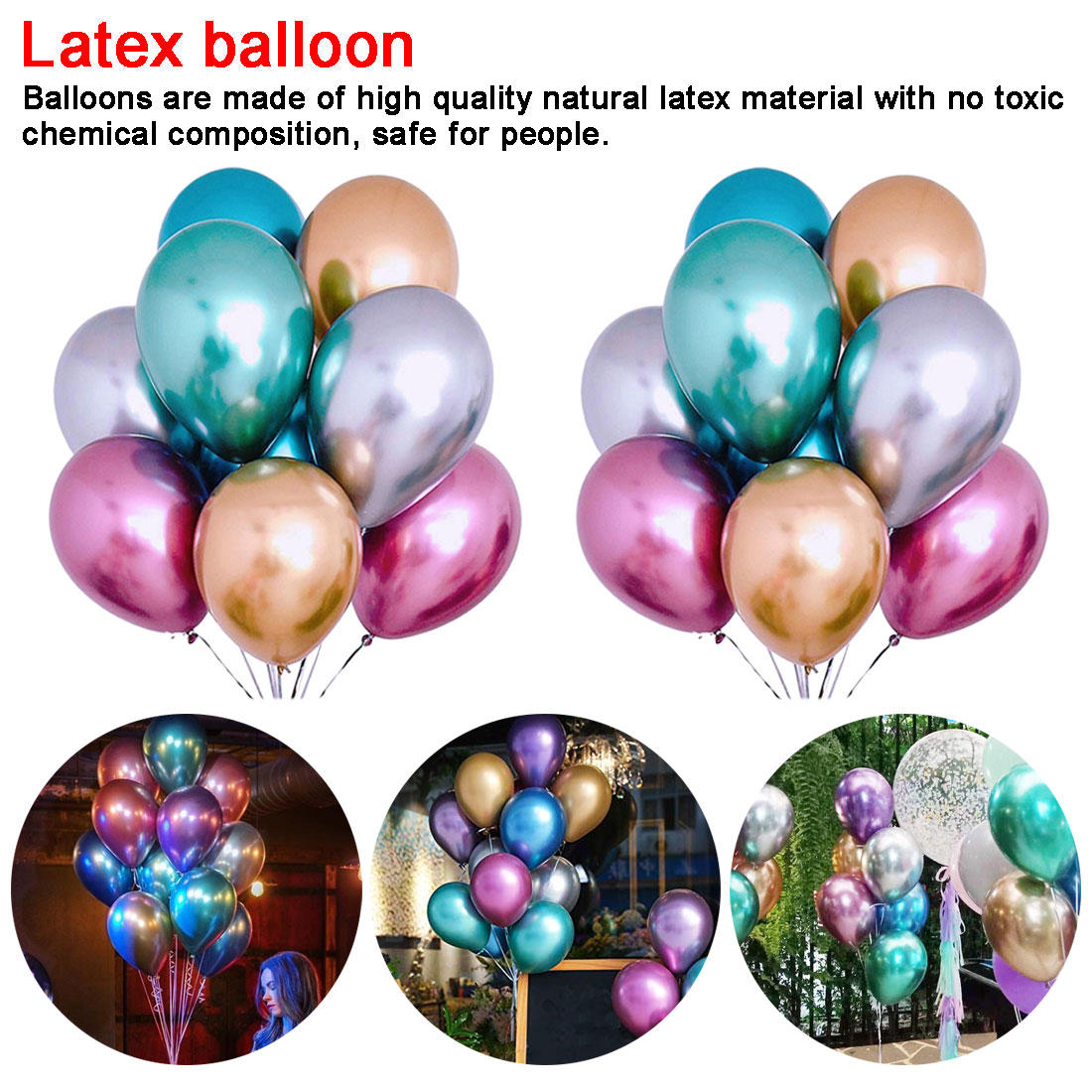 """QUALITY LATEX BALLOONS 10/""""  //Standard FOR Decoration Birthdays Parties BALOONS"""